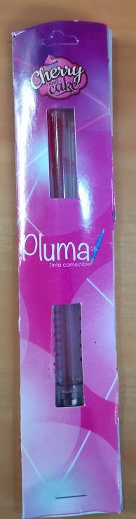 Pluma tinta comestible rosa