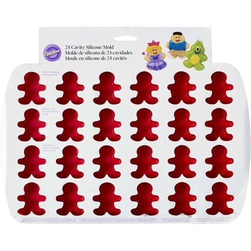 Molde niño jengibre mini rojo 24 cav silicón 2105-0553