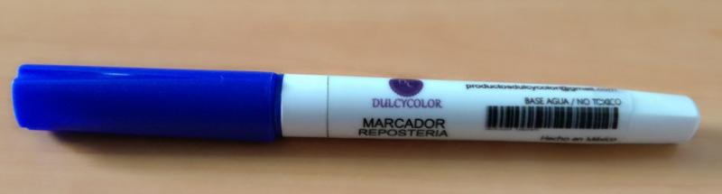 Marcador comestible Dulcycolor azúl rey