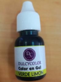 Color vegetal Dulcycolor verde limón 10 ml