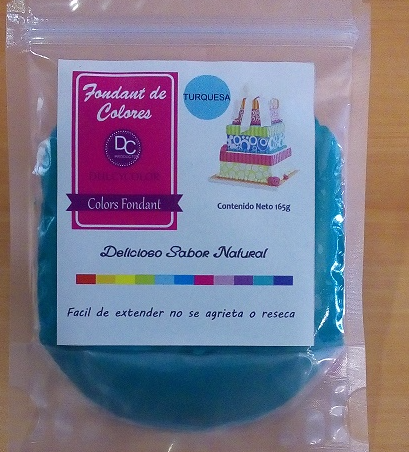 Fondant color turquesa 165g