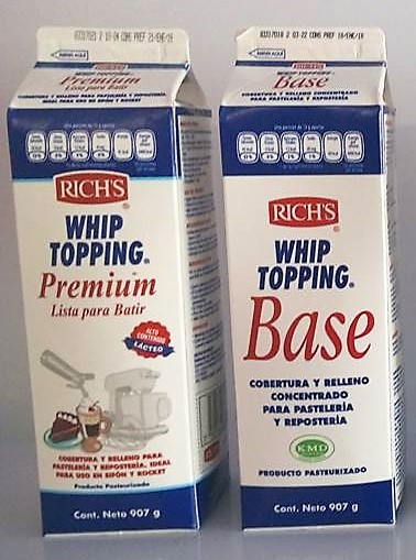Whip Topping Premium Rich's 907 gr