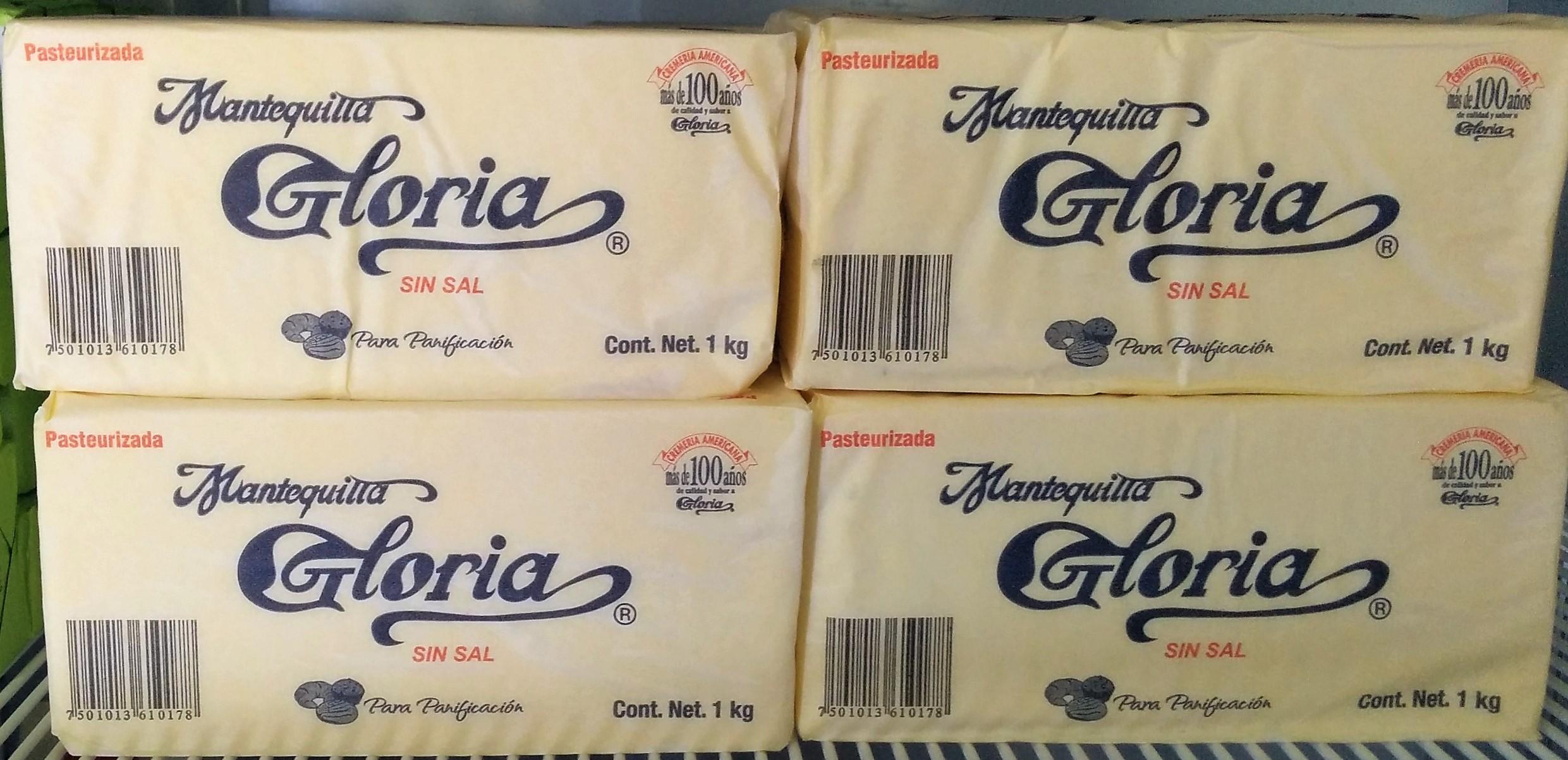 Mantequilla Gloria 1 kg