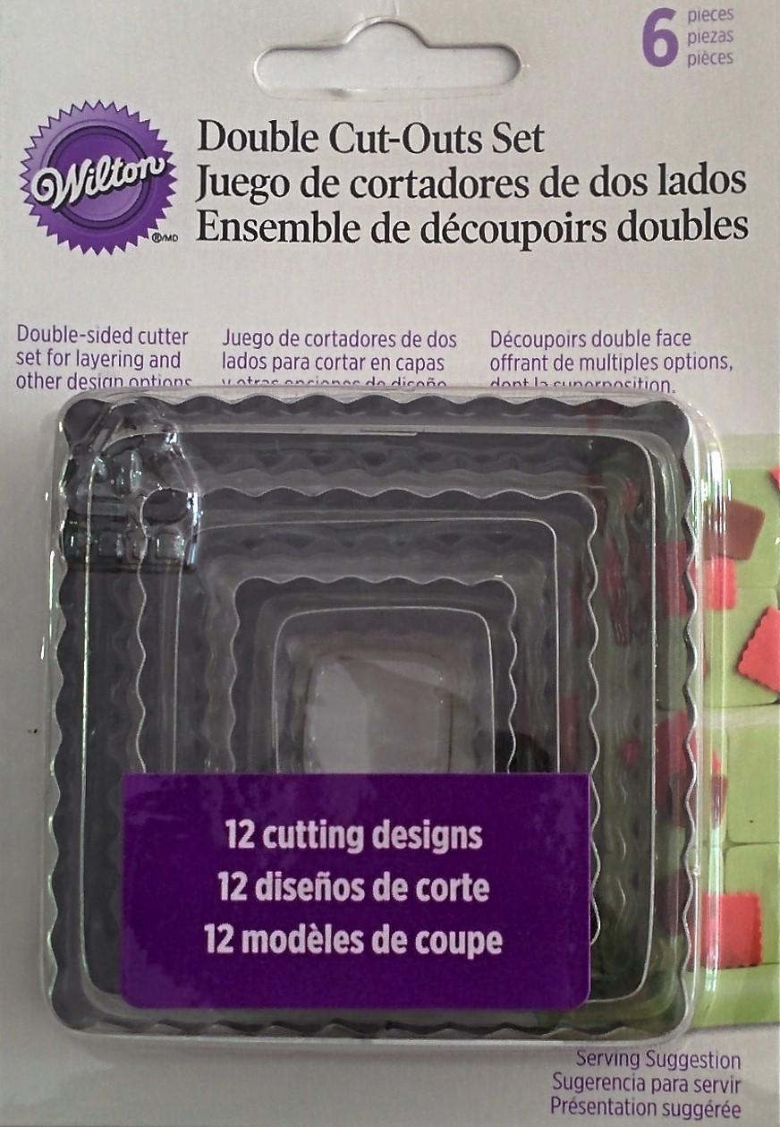 Jgo. 6 cortadores cuadrados doble