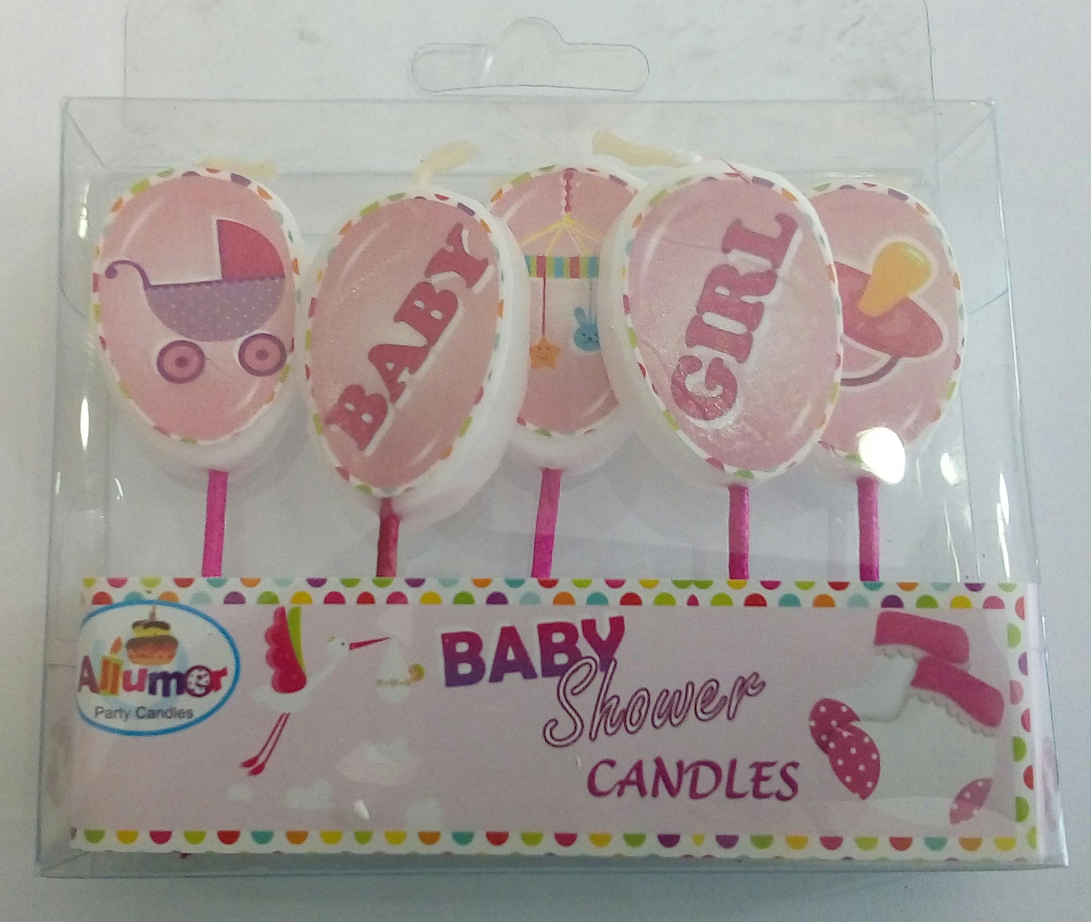 Velas baby shower niña pick-up