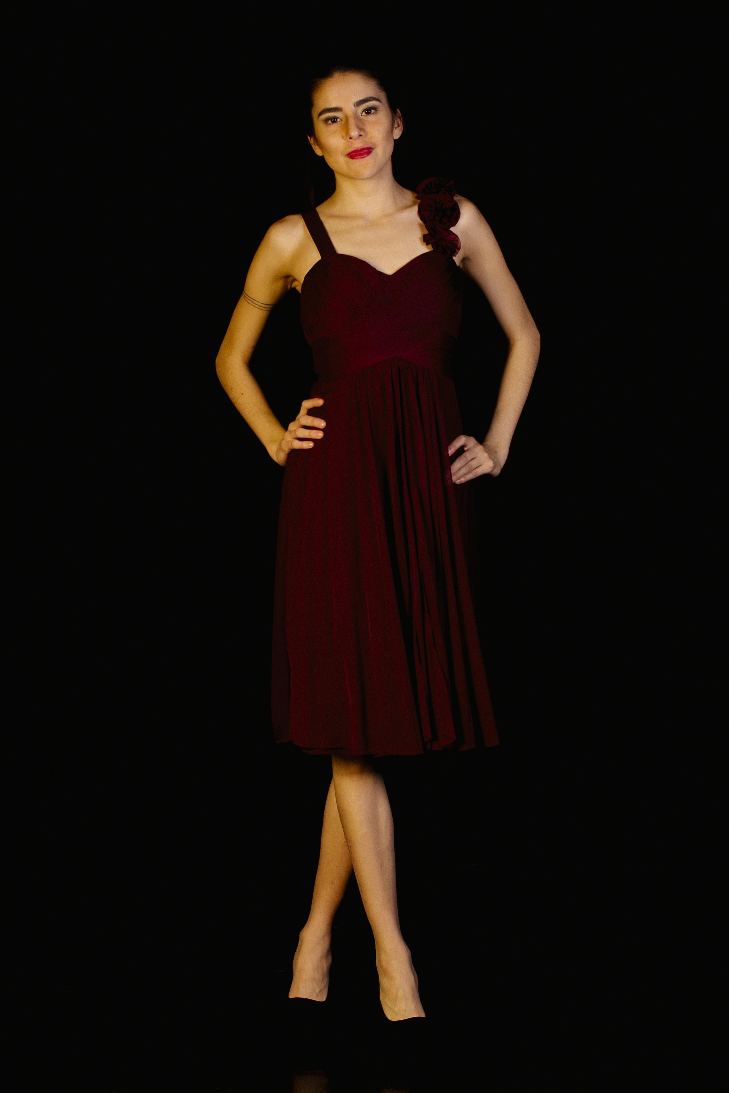 Midi Dress Flores Unilateral