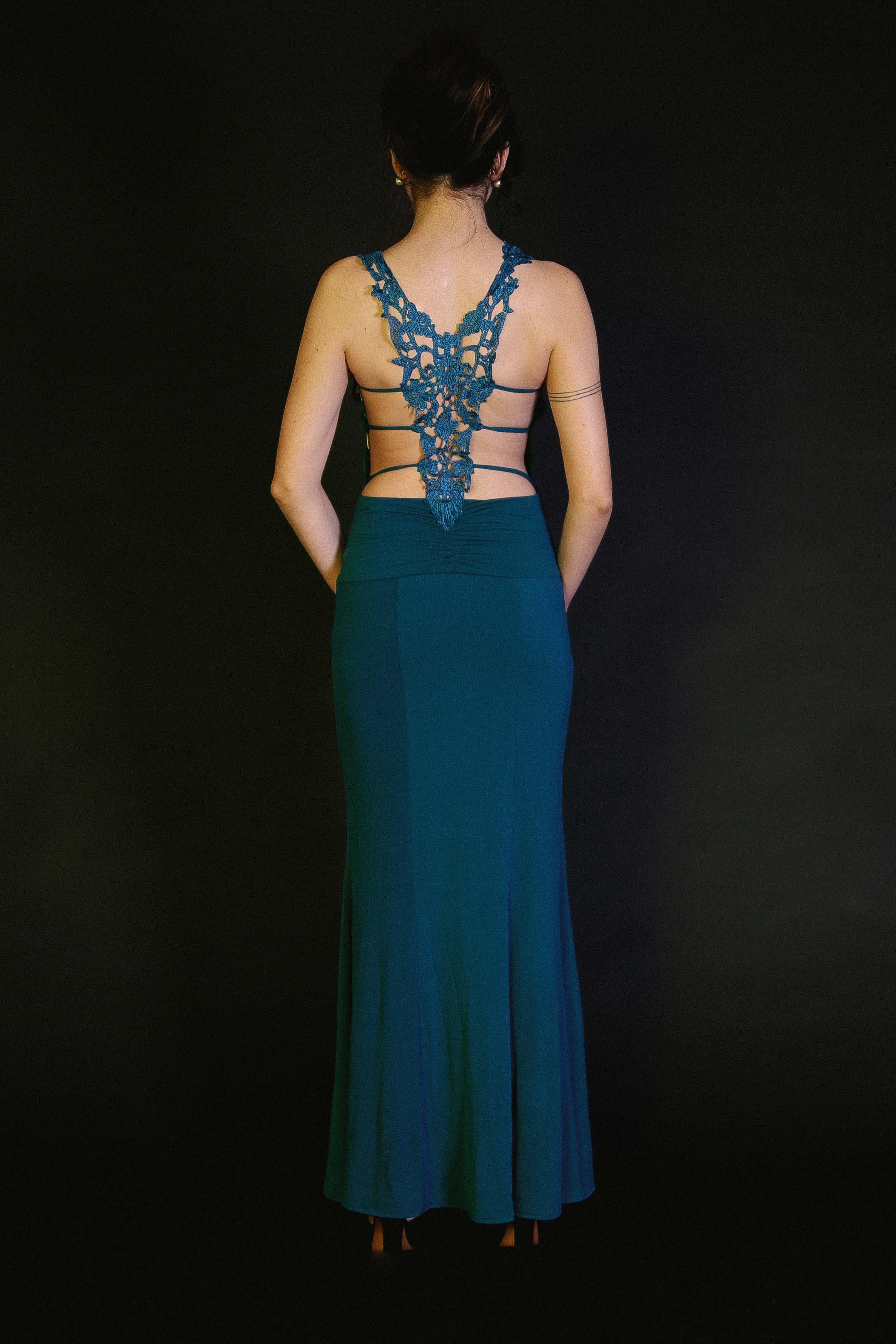 Vestido Sirena Espalda Detalle