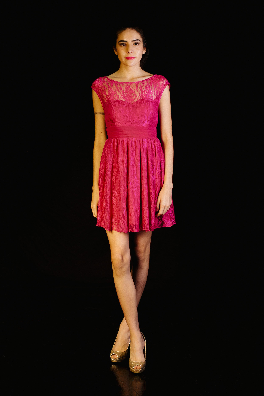 Flared Dress de Encaje