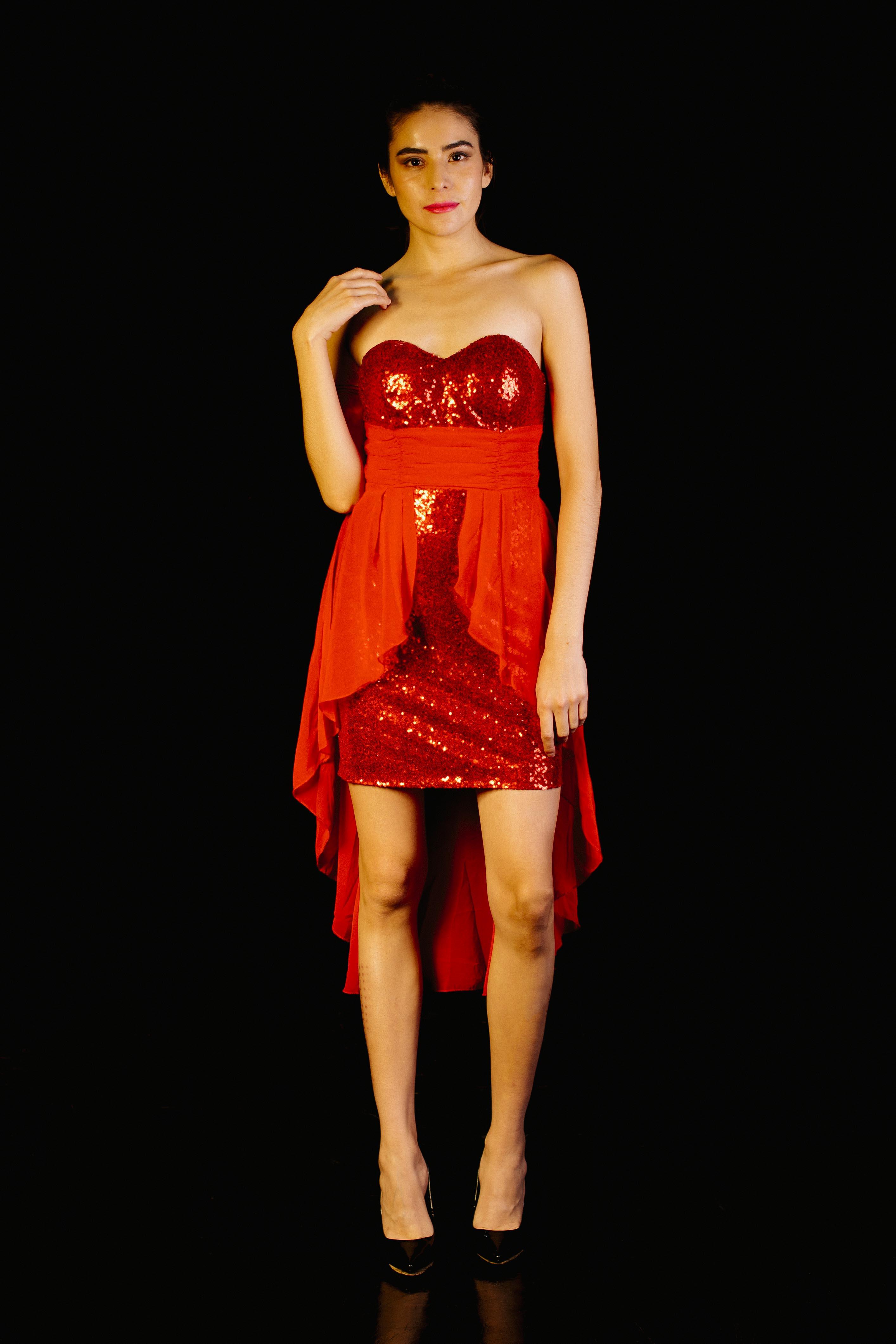 High Low Dress Lentejuelas