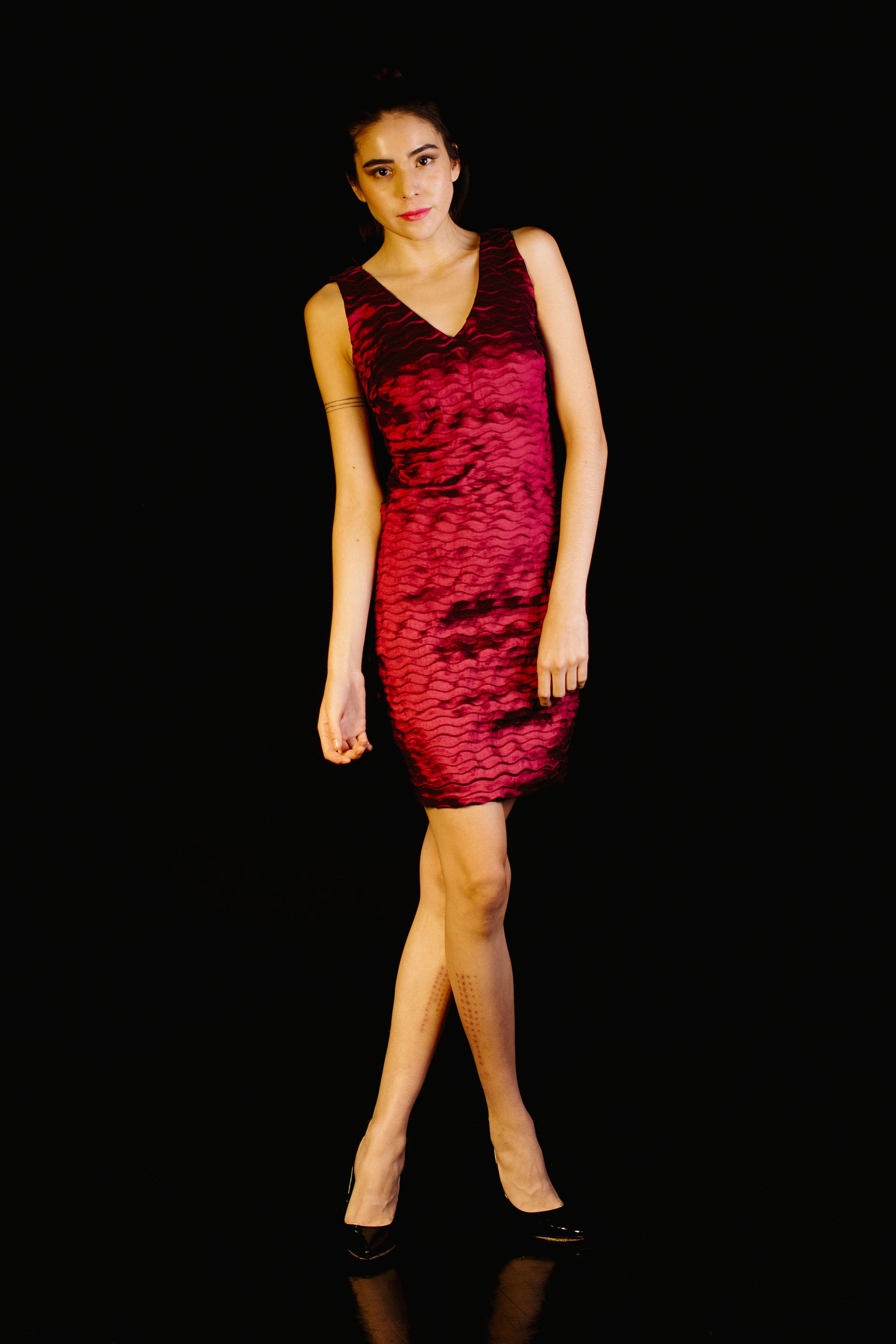Little Dress With V Neck