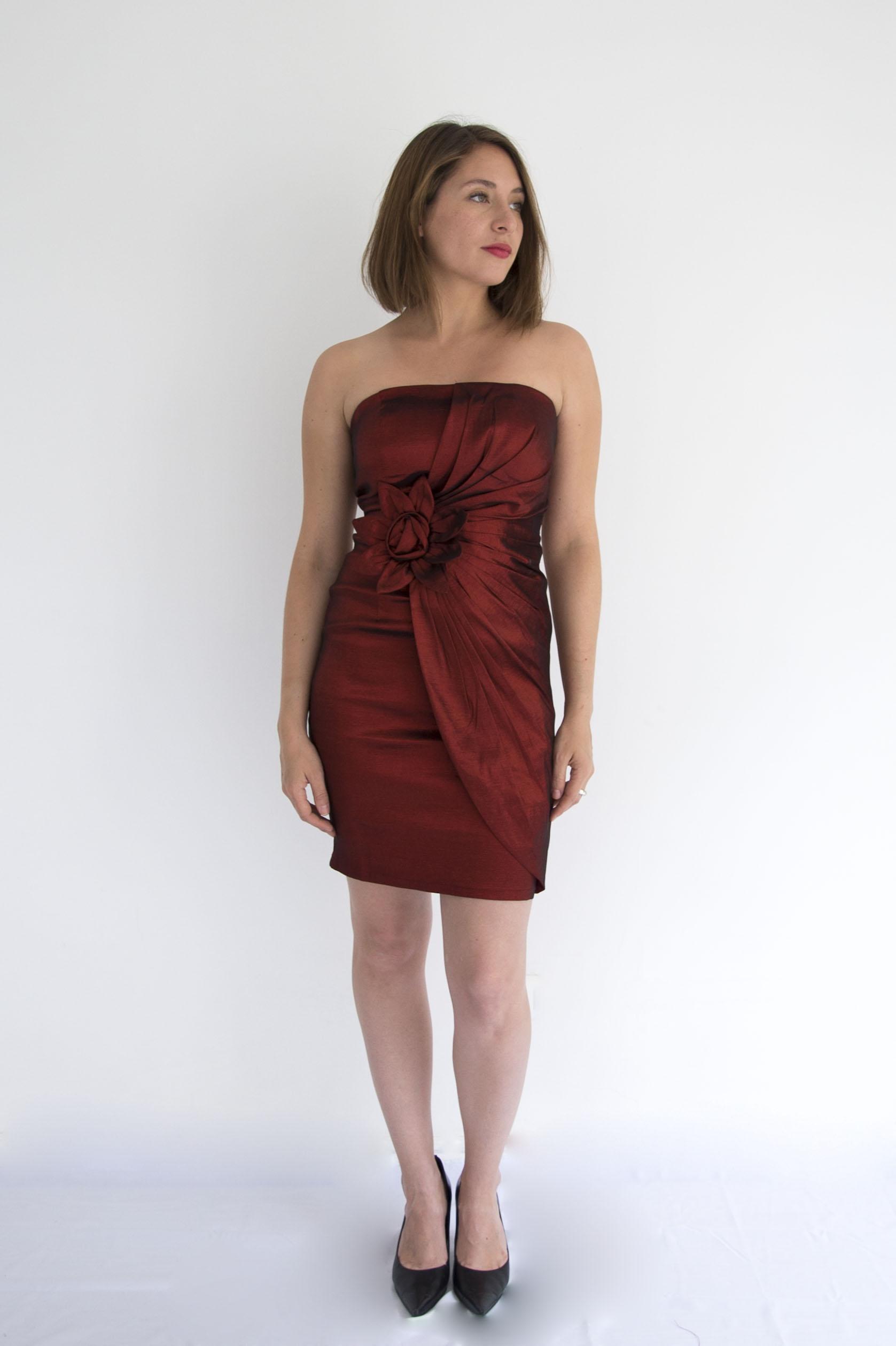 Vestido Flor Central