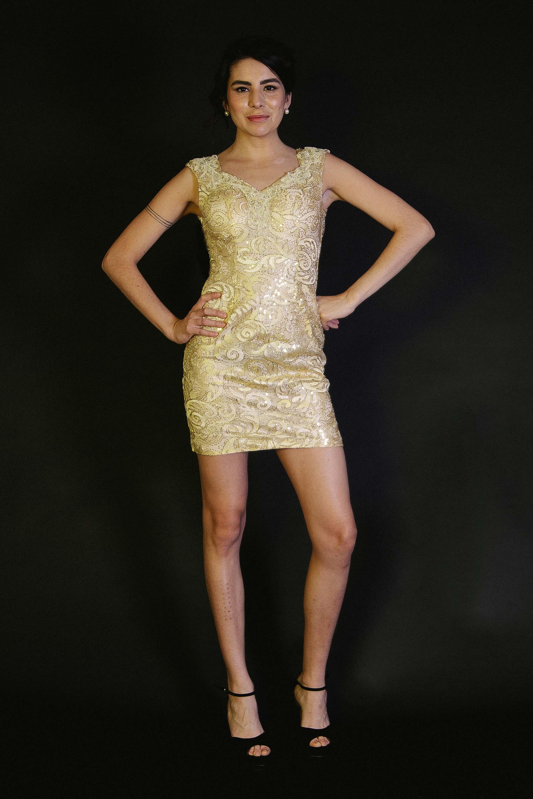 Vestido Mini Detalles Bordados