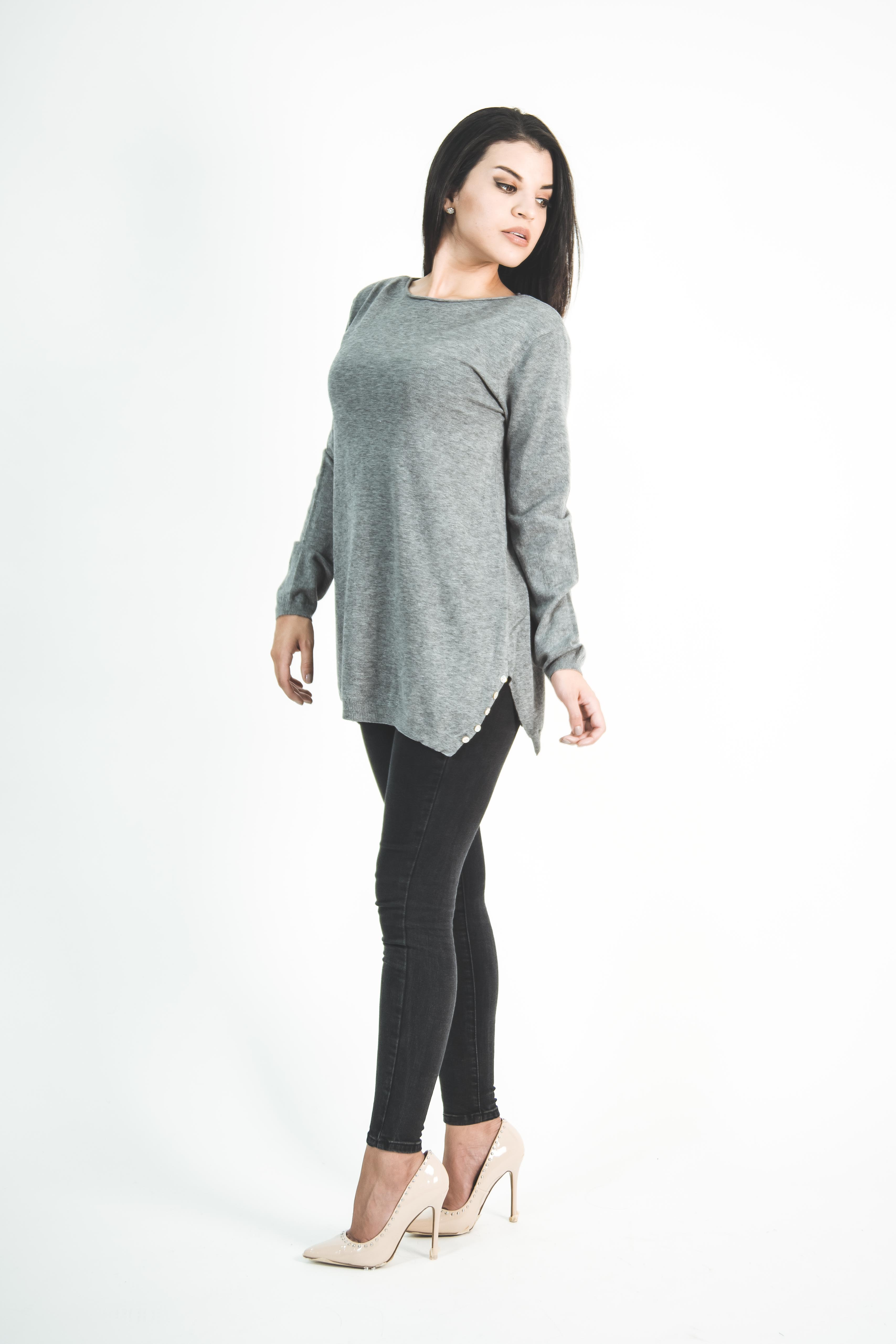 Sweater Botones a los lados