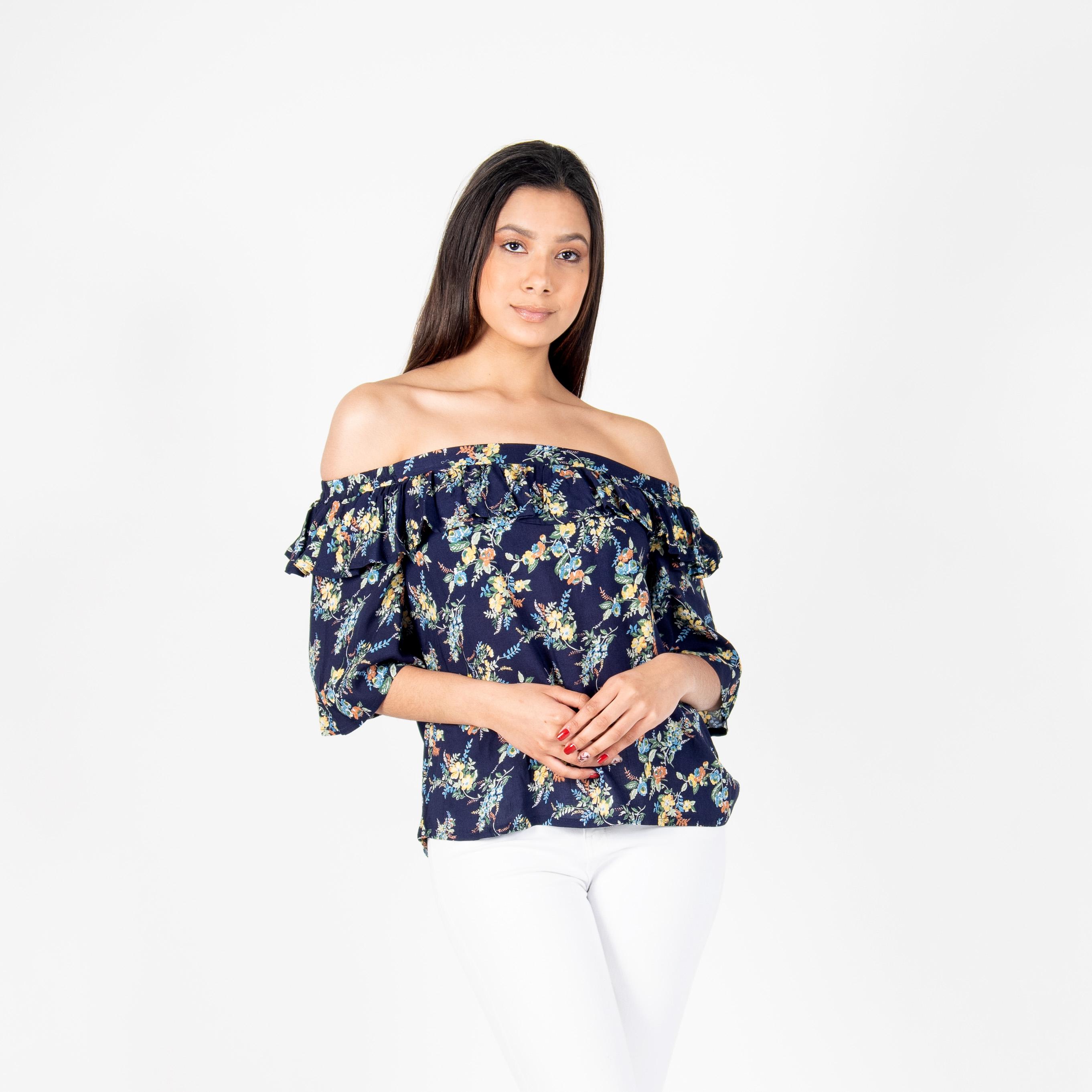 Blusa Vuelos Flores
