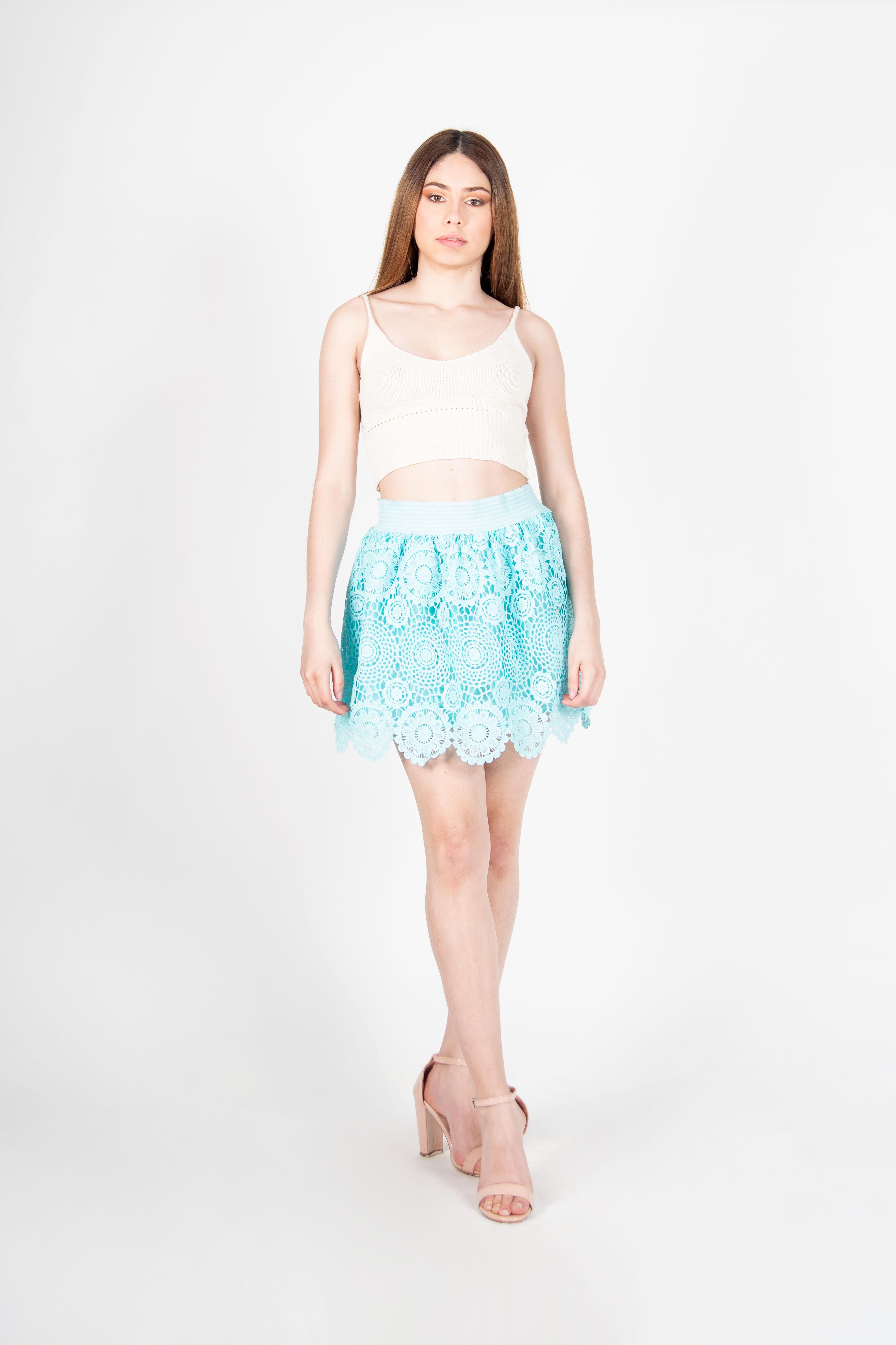 Mini Falda de Encaje