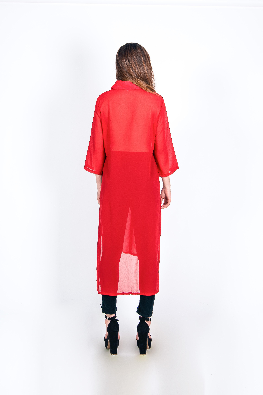 Camisa Transparente Larga