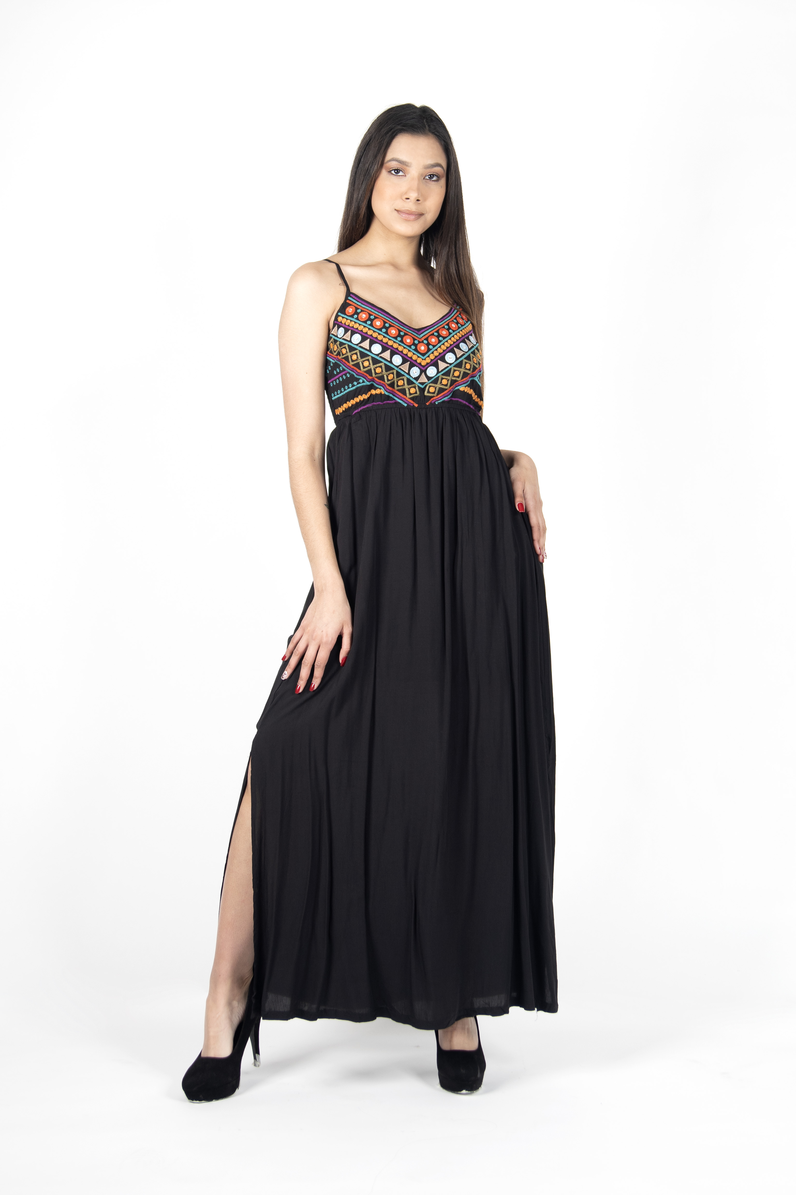 Maxidress con Bordados