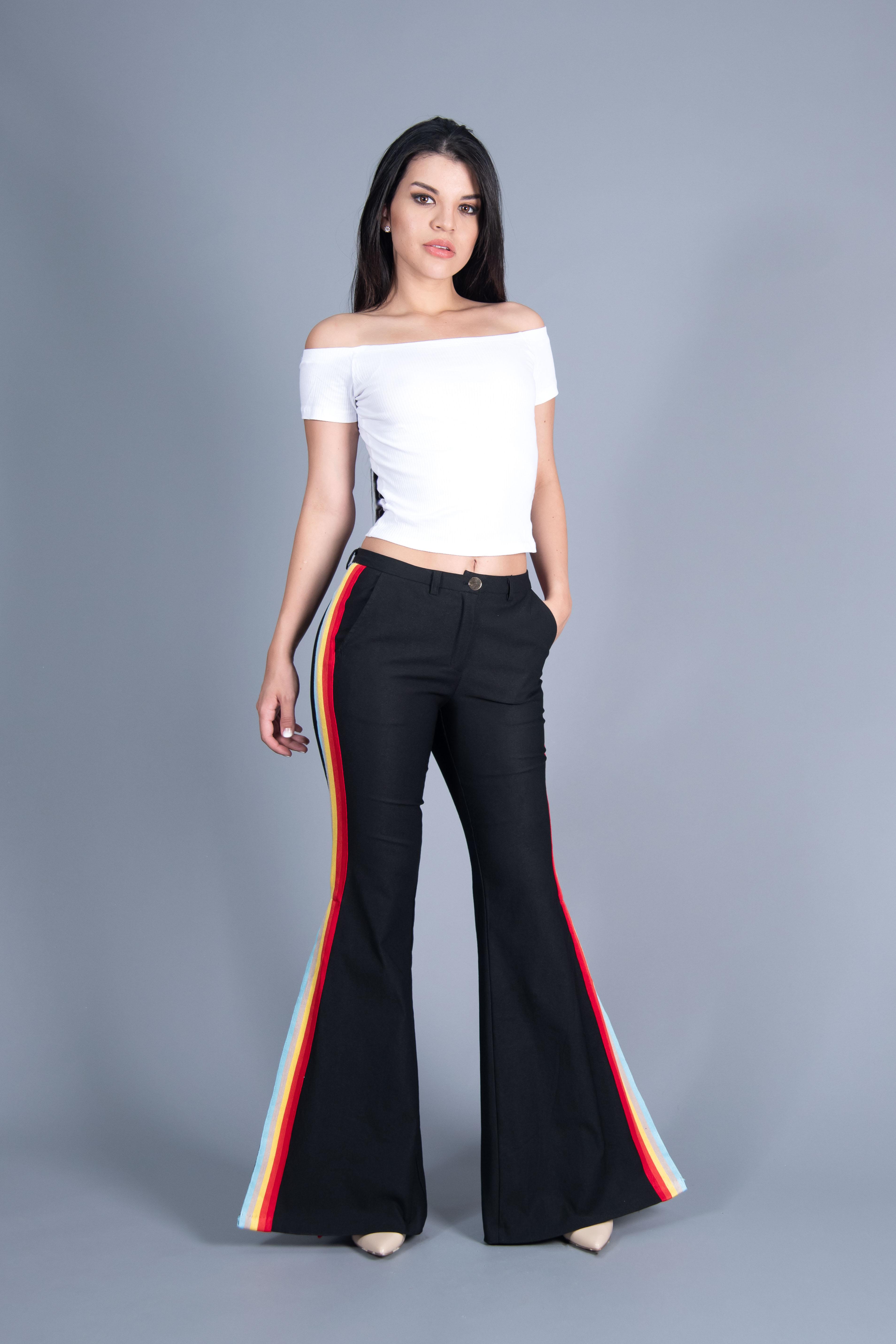 Pantalones Flare de Tiro Bajo