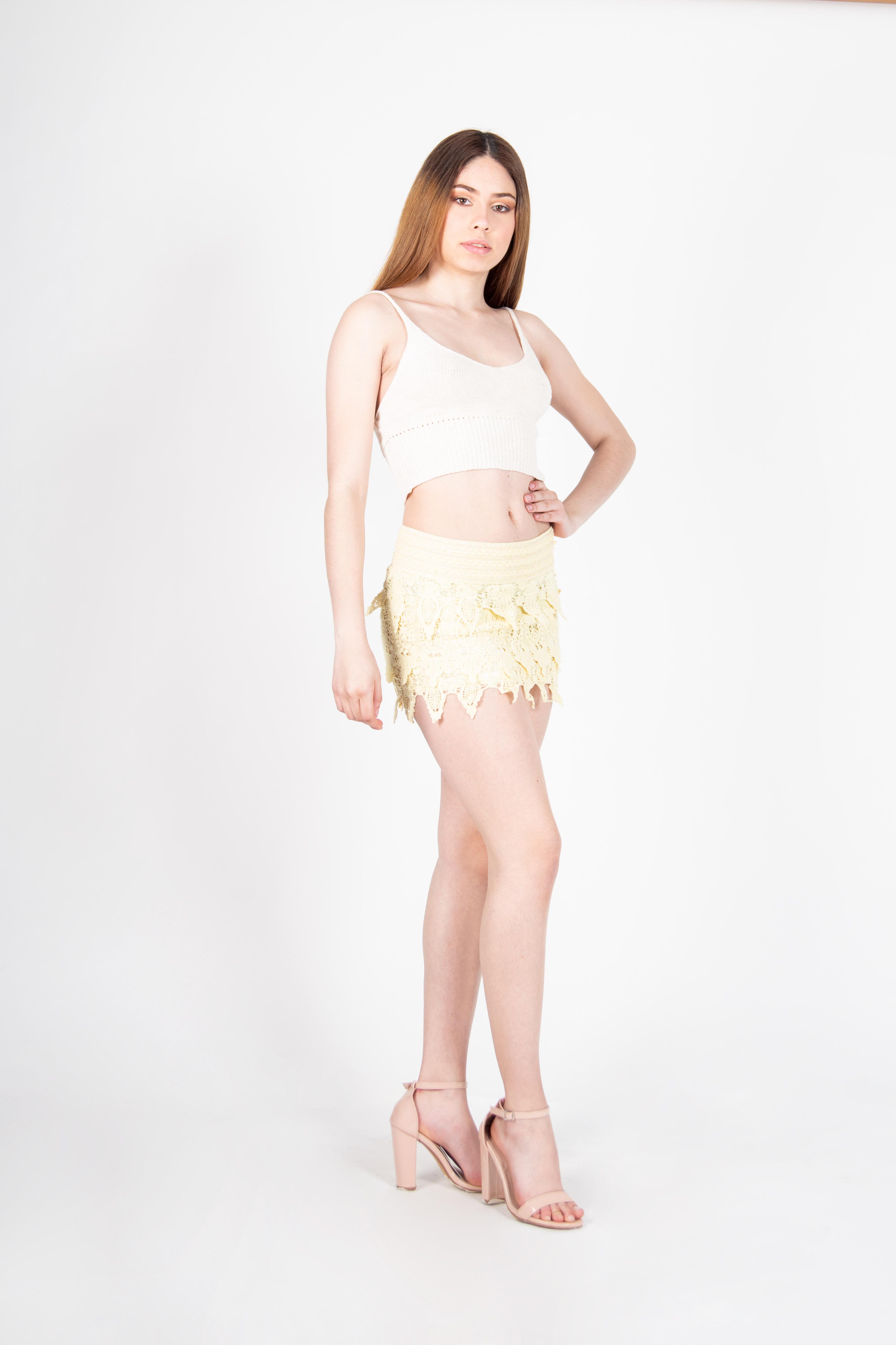Mini Mini Falda de Encaje