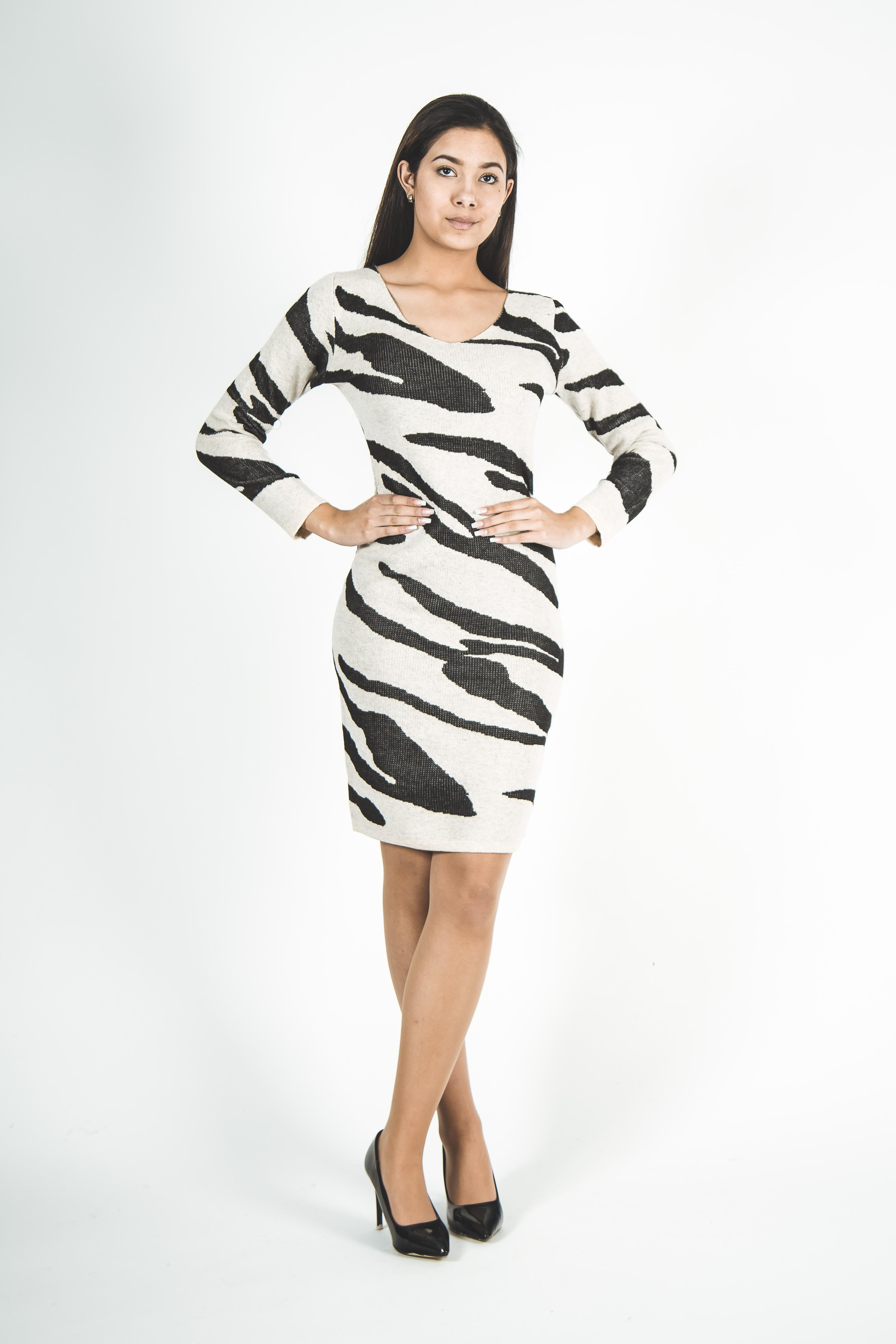Vestido Tejido Animal Print