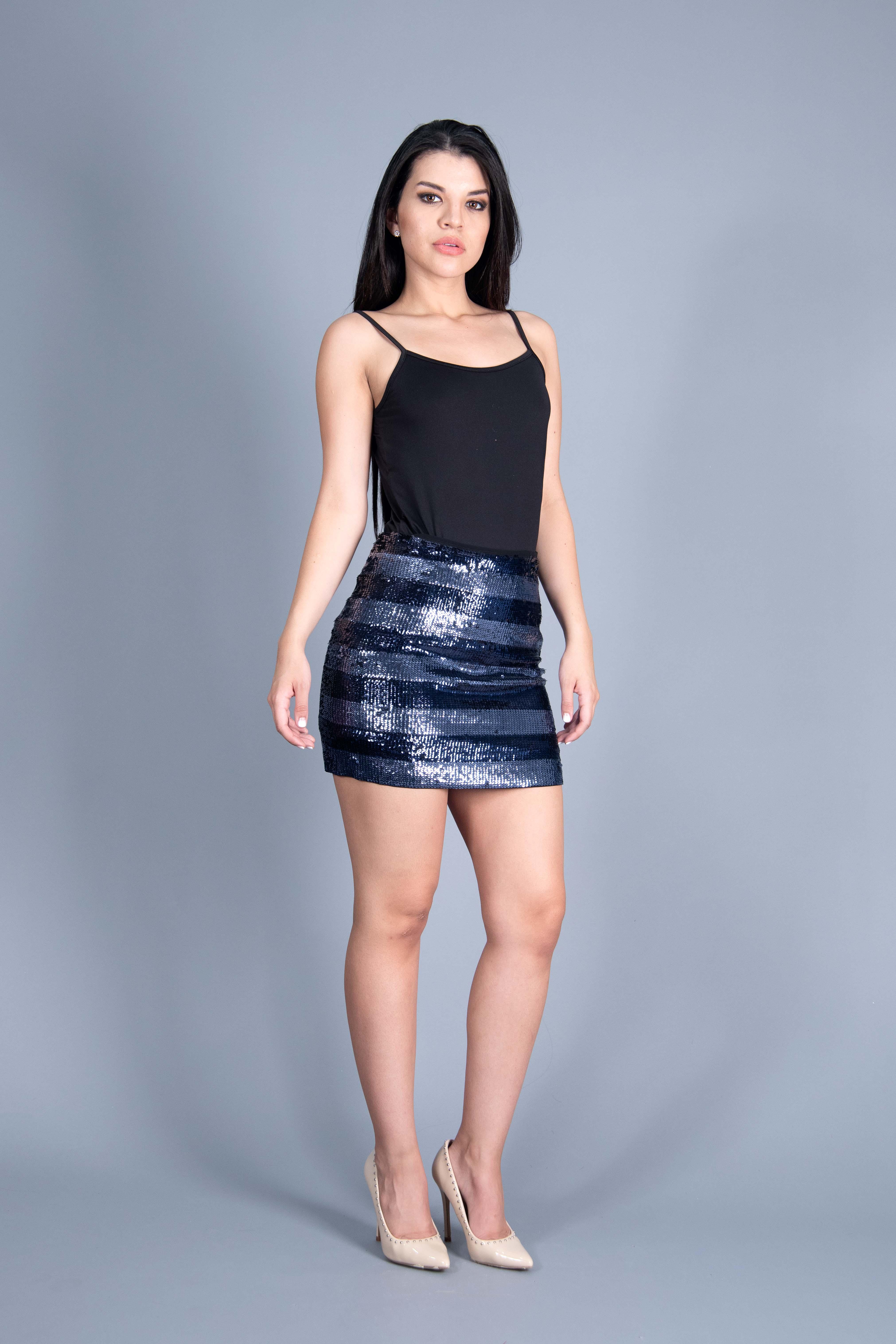 Falda Lentejuela Stripes