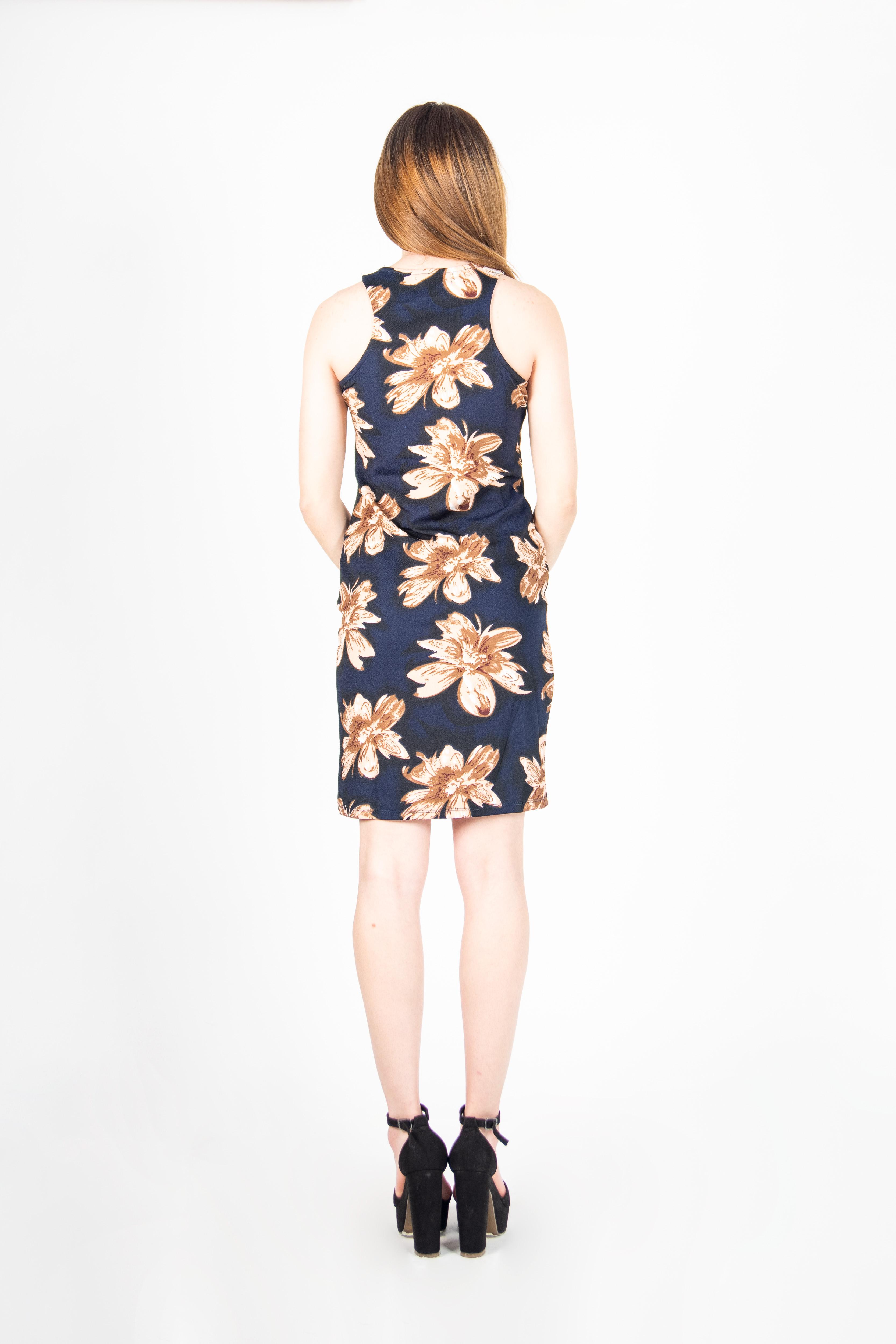 Vestido Mini Ajustado Flores