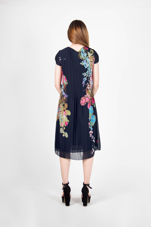 Vestido Plisado Señora Flores