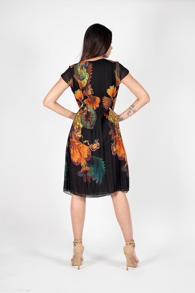 Vestido Plisado Señora Mariposa