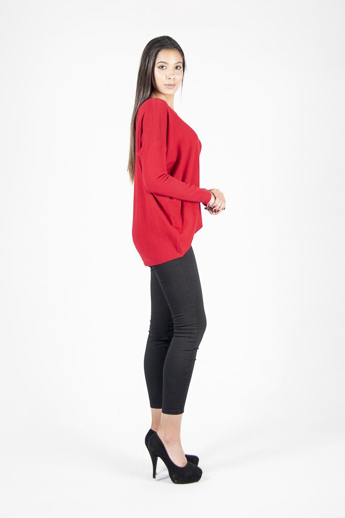 Sweater Con Cierre En la Espalda