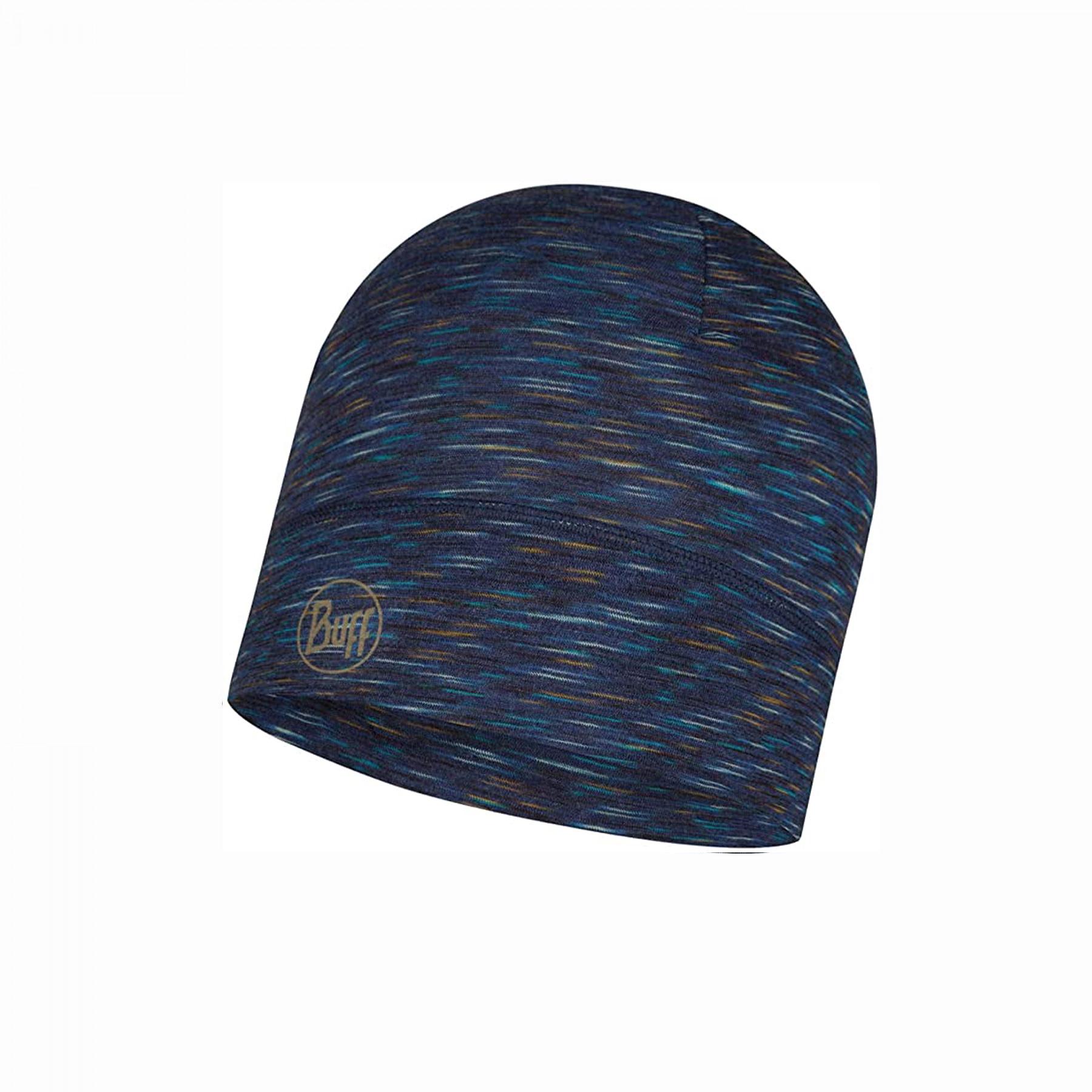 Gorro nieve BUFF Lightweight Merino Wool Hat Denim Multistripes