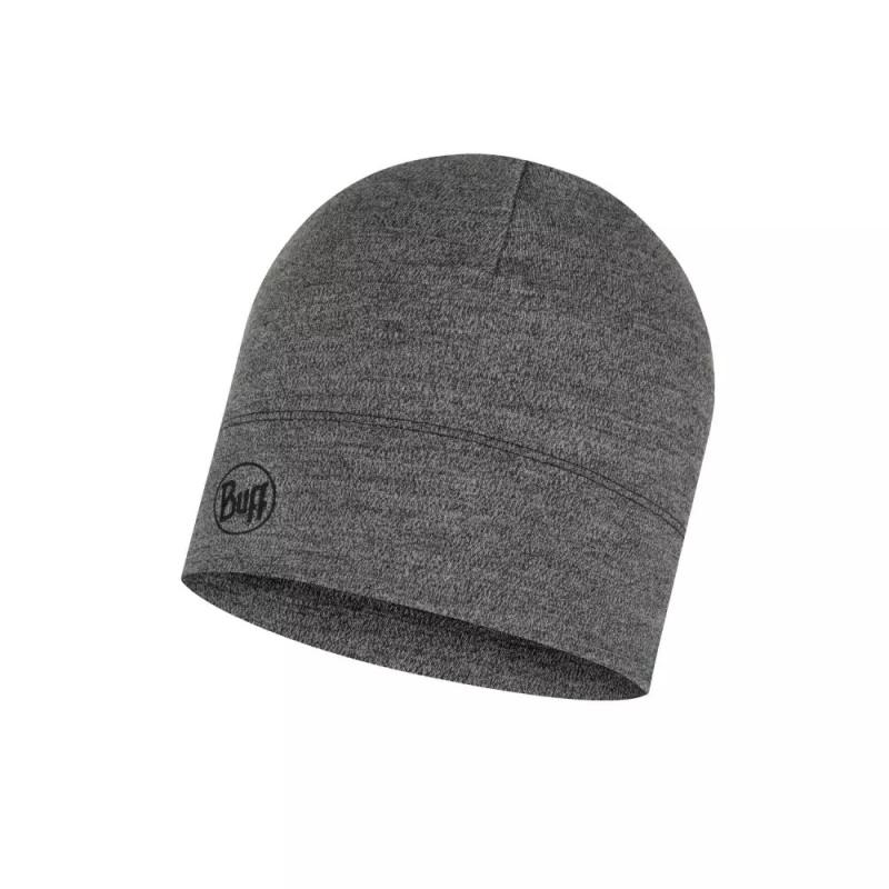 Midweight Merino Wool Hat Grey Melange