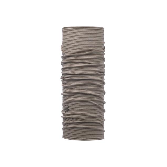 Lightweight Merino Wool Slim Fit Walnut Brown Stripes