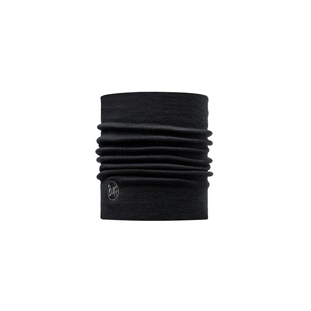 Heavy Merino Wool Neckwarmer Solid Black