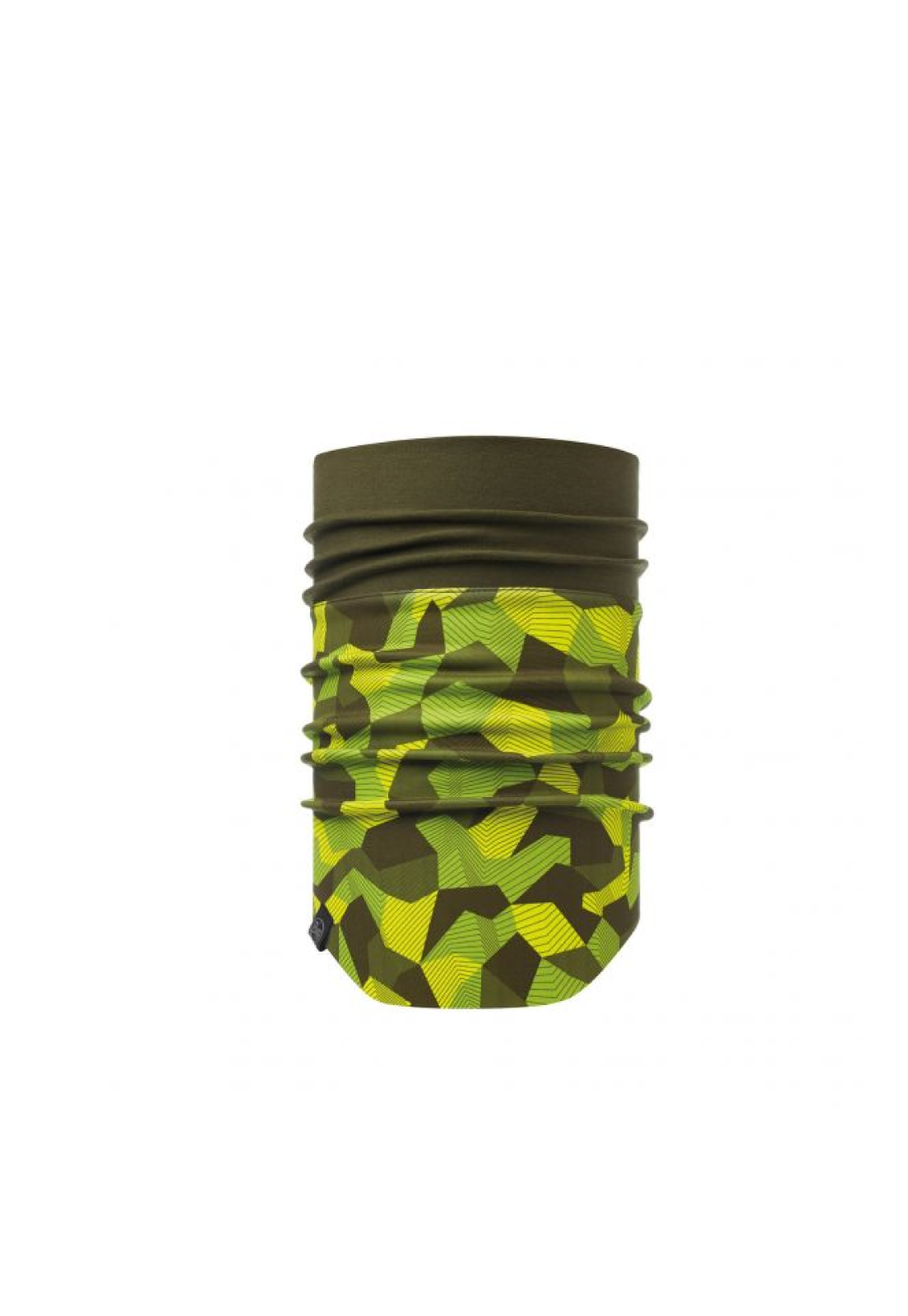Windproof Neckwarmer Block Camo Green