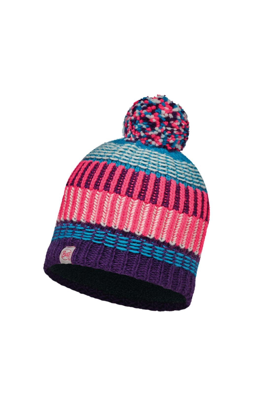 Junior Knitted & Polar Hat Hops Plum Primaloft®