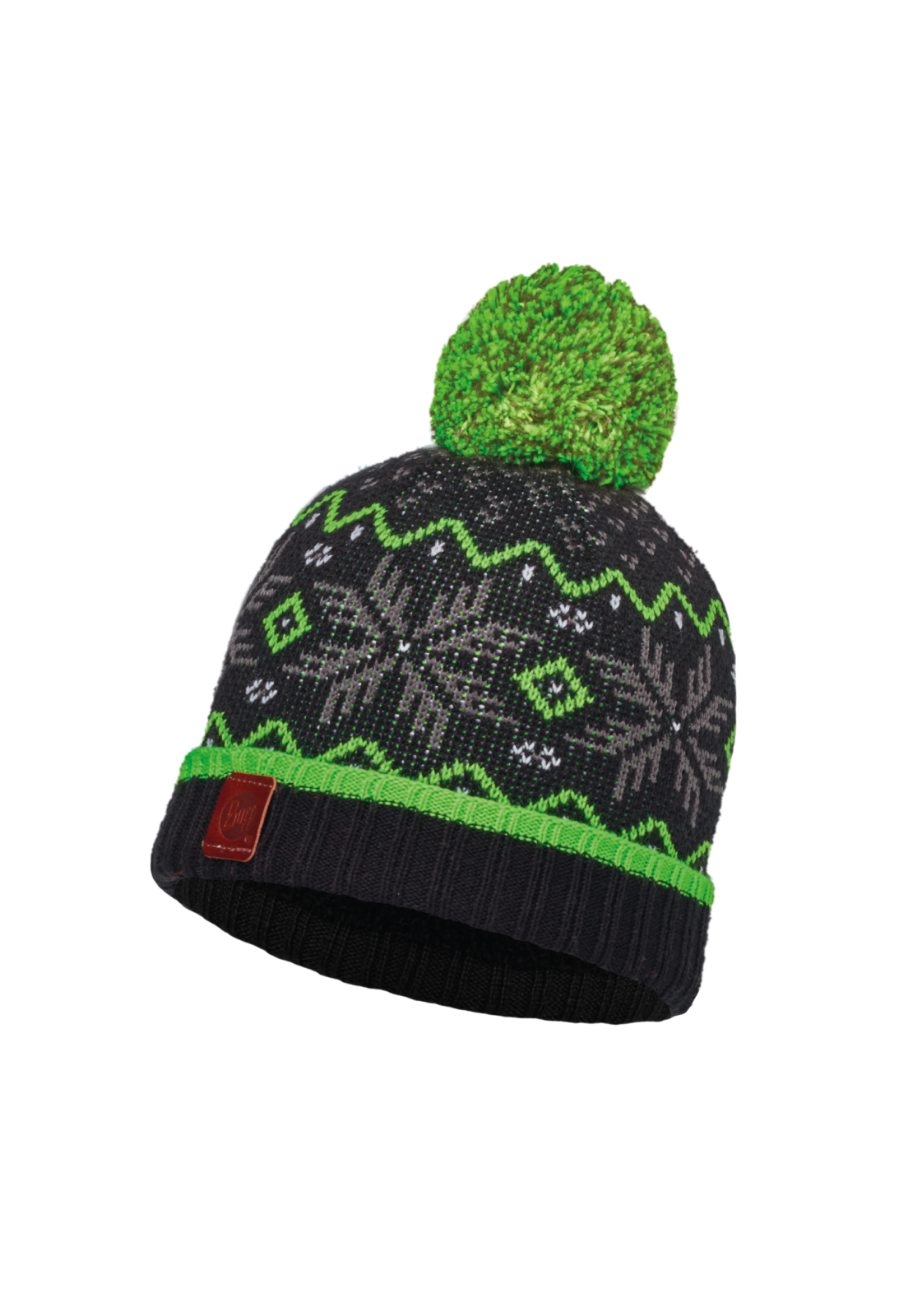 Junior Knitted & Polar Hat Nester Black