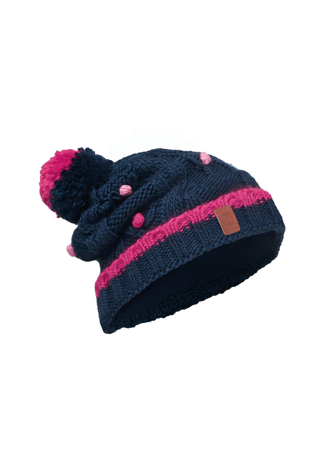 Junior Knitted & Polar Hat Dysha Dark Navy Primaloft