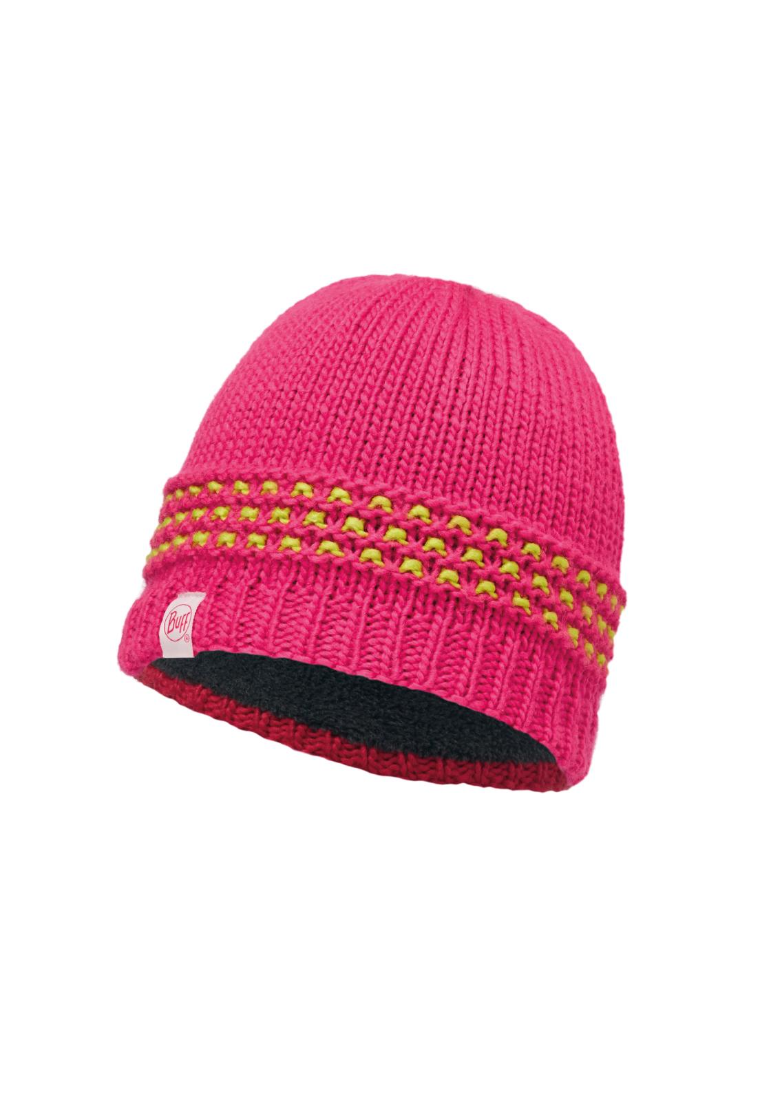Junior Knitted & Polar Hat Jambo Pink Azalea