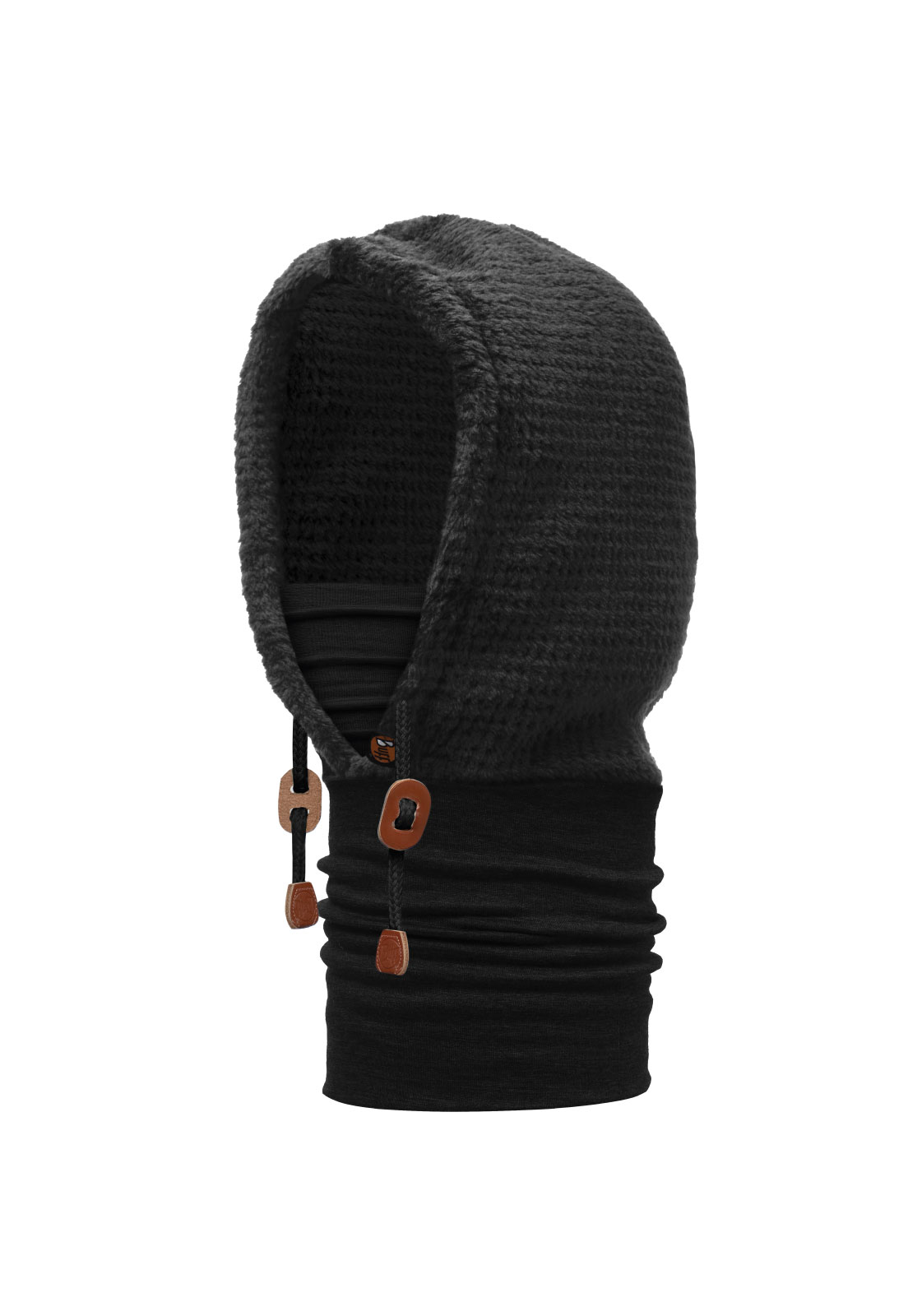 Thermal Hoodie Solid Black