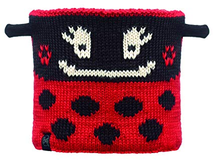 Junior Neckwarmer Knitted & Polar Fleece  Ladybug / Black