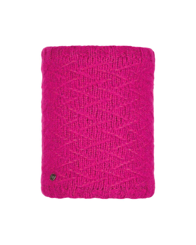 Knitted & Polar Neckwarmer Ebba Bright Pink