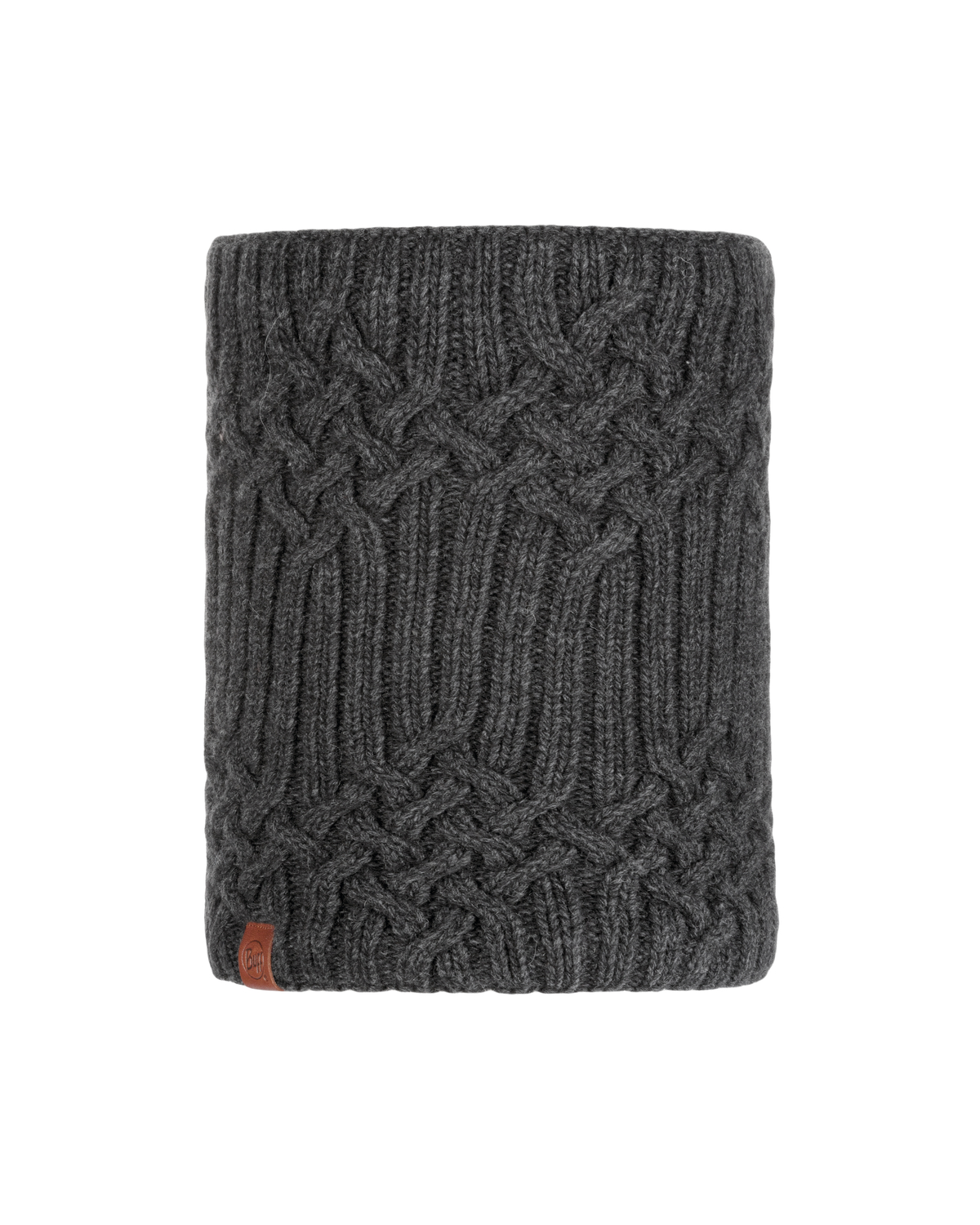 Knitted & Polar Neckwarmer Helle Graphite