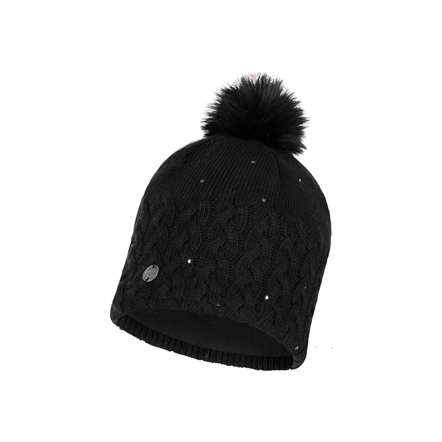 Knitted & Full Polar Hat Elie Black
