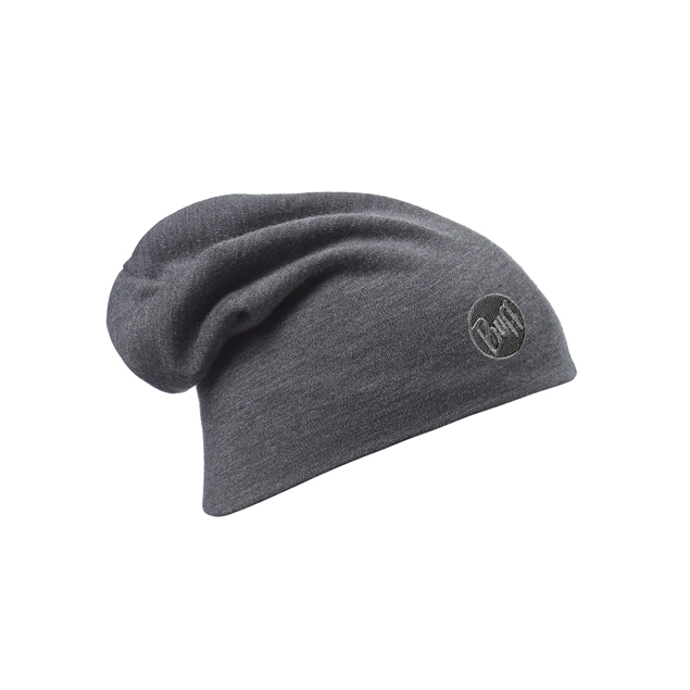 Heavyweight Merino Wool Hat Solid Grey