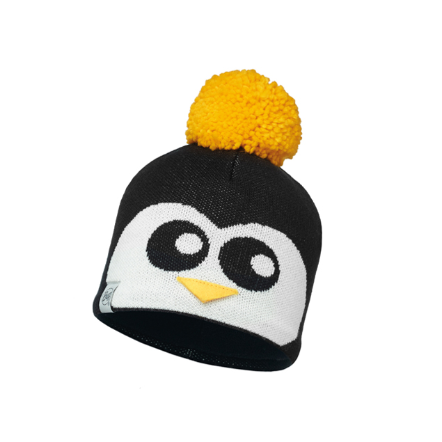 Child Knitted & Polar Hat Penguin Black