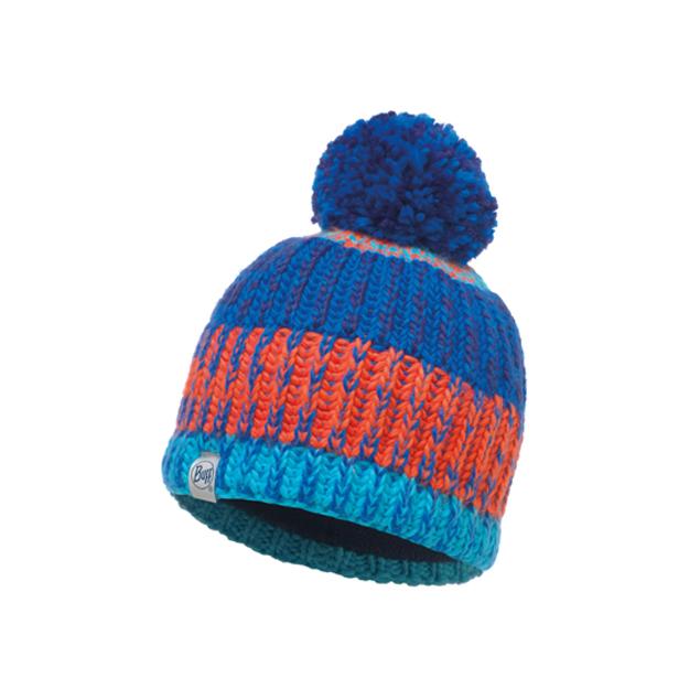 Knitted & Polar Hat Child Twist Cape Blue / Navy Primaloft