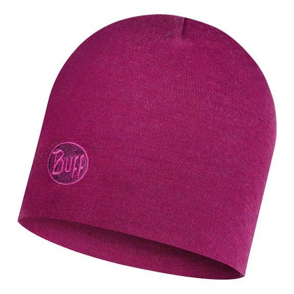 Heavyweight Merino Wool Hat Solid Raspberry