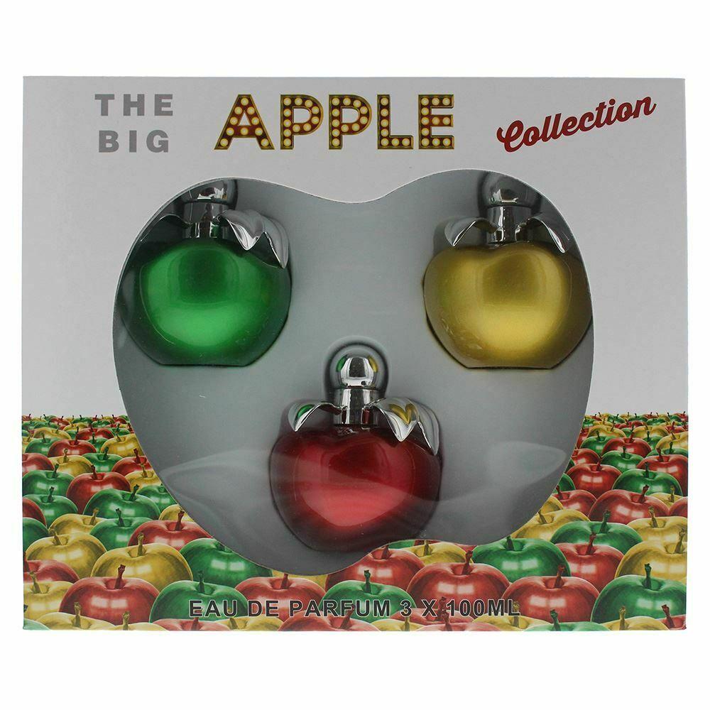 The Big Apple Set Regalo 100ml Green Apple EDP + 100ml Gold Apple EDP + 100ml Red Apple EDP