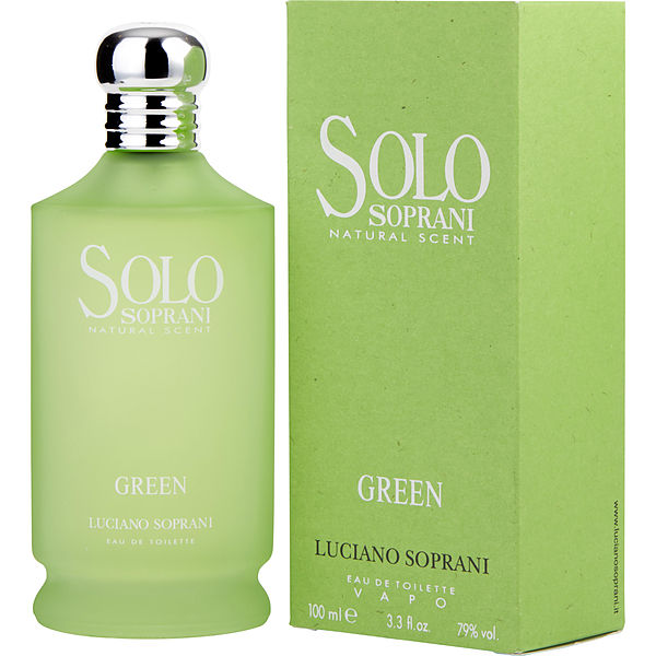 LUCIANO SOPRANI SOLO SOPRANI NATURAL SCENT GREEN EDT 100ML
