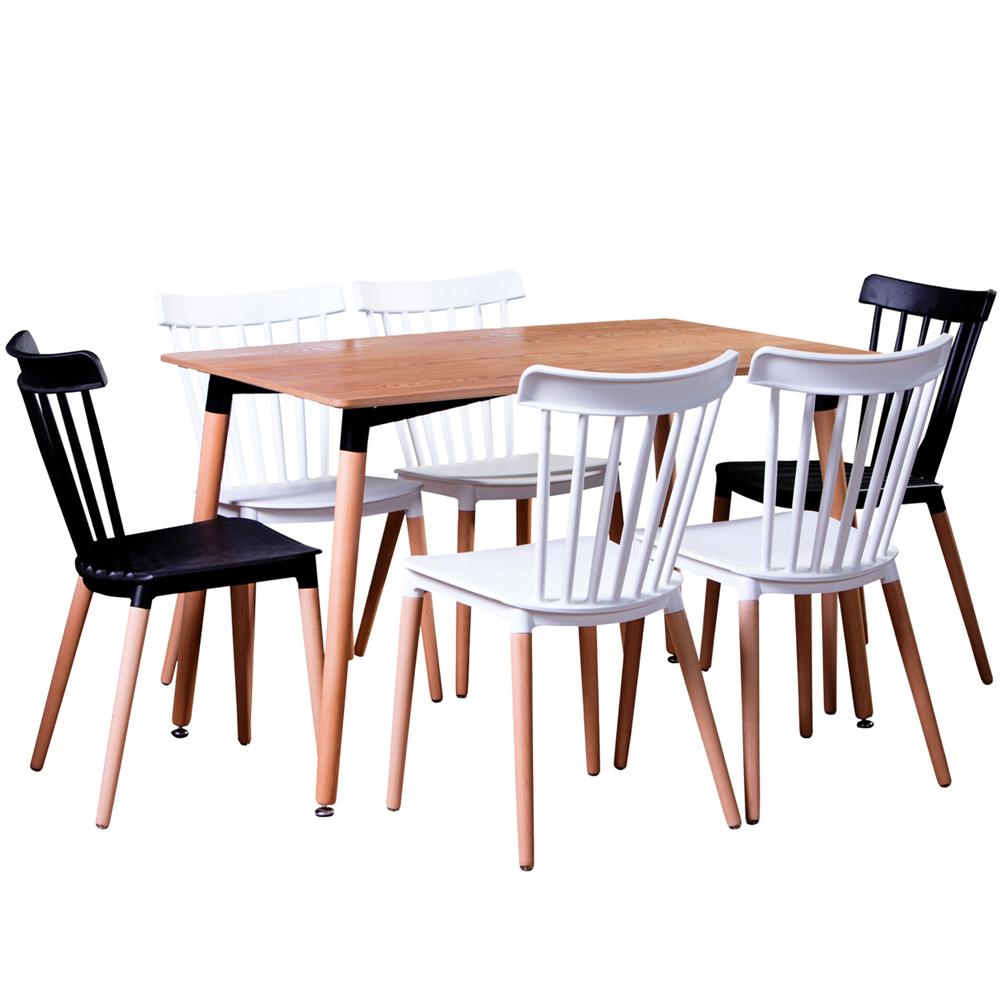Comedor Amanda 6 sillas - Madera
